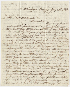 Mark Hopkins letter to Edward Hitchcock, 1848 July 25