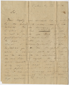 Alexis Eustaphieve letter to Edward Hitchcock, 1815 August 22