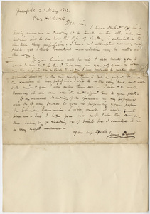 James Deane letter to Edward Hitchcock, 1832 May 20