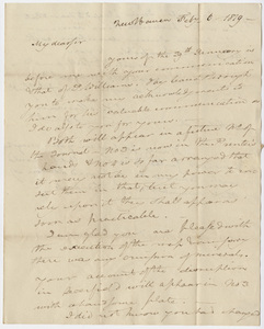 Benjamin Silliman letter to Edward Hitchcock, 1819 February 6