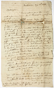 Benjamin Silliman letter to Edward Hitchcock, 1822 August 2