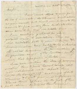 Benjamin Silliman letter to Edward Hitchcock, 1817 October 27