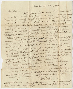 Benjamin Silliman letter to Edward Hitchcock, 1818 March 1