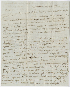 Benjamin Silliman letter to Edward Hitchcock, 1831 January 4