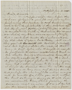 Heman Humphrey letter to Edward Hitchcock, 1848 January 14