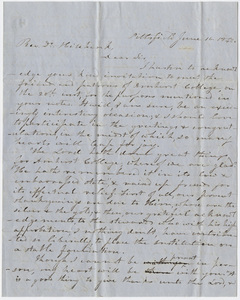 Heman Humphrey letter to Edward Hitchcock, 1848 June 16