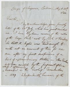 Richard Owen letter to Edward Hitchcock, 1844 August 30