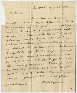 Benjamin Silliman letter to Edward Hitchcock, 1818 May 22