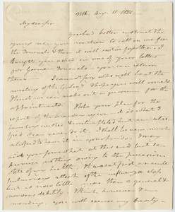 Benjamin Silliman letter to Edward Hitchcock, 1821 August 11