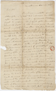 Benjamin Silliman letter to Edward Hitchcock, 1821 September 20
