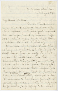 Edward Hitchcock, Jr. letter to Edward Hitchcock, 1861 May 25