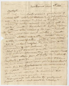 Benjamin Silliman letter to Edward Hitchcock, 1822 May 8