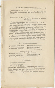 American Academy of Arts and Sciences report on paper by Edward Hitchcock, 1862 December 10