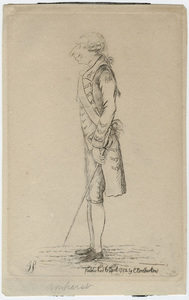 James Sayers caricature of Jeffery Amherst