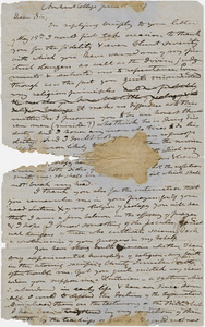 Edward Hitchcock draft letter to unidentified recipient, 1857 June 15