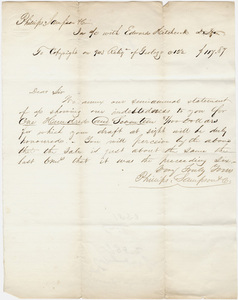 Philips, Sampson & Company royalty statement to Edward Hitchcock, 1852