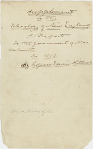 "Edward Hitchcock final draft, ""Supplement to the Ichnology of New England,"" 1863"