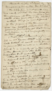 Edward Hitchcock notes on temperance, 1836 December 21 and 1837 February 28