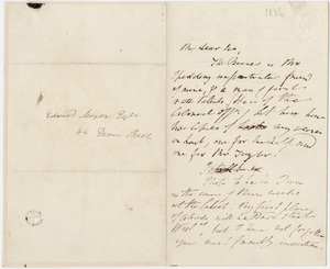 William Wordsworth letter to Edward Moxon, 1836 May 26