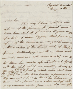 William Wordsworth letter to Messrs. Longman, May 10