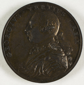 Bronze medal commemorating British military victories in the West Indies and Newfoundland, 1762