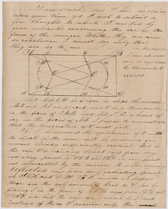 Calvin Chapin Bayley note to Edward Hitchcock