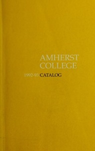 Amherst College Catalog 1992/1993