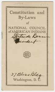 Constitution and by-laws of National Council of American Indians