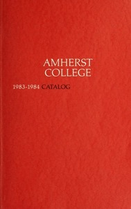 Amherst College Catalog 1983/1984