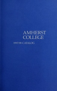Amherst College Catalog 1997/1998