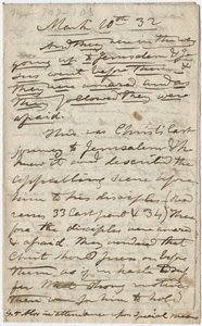 Edward Hitchcock sermon notes, 1857 January 15