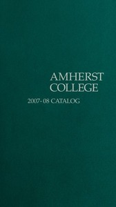 Amherst College Catalog 2007/2008