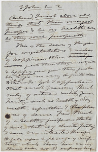 Edward Hitchcock sermon notes, 1848 January