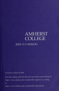 Amherst College Catalog 2010/2011
