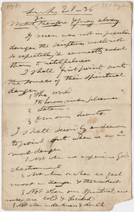 Edward Hitchcock sermon notes, 1839 June