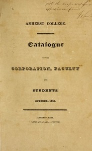 Amherst College Catalog 1826/1827