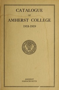 Amherst College Catalog 1918/1919