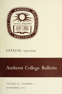 Amherst College Catalog 1973/1974