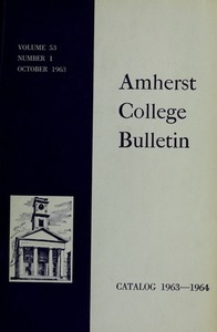 Amherst College Catalog 1963/1964