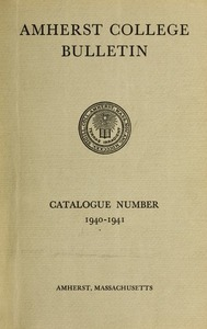 Amherst College Catalog 1940/1941