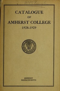 Amherst College Catalog 1928/1929