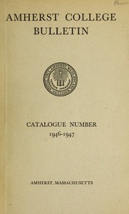 Amherst College Catalog 1946/1947