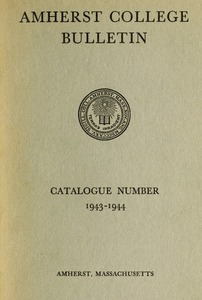 Amherst College Catalog 1943/1944