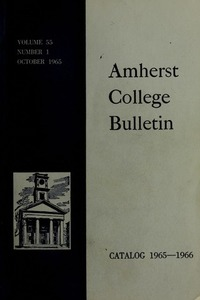 Amherst College Catalog 1965/1966