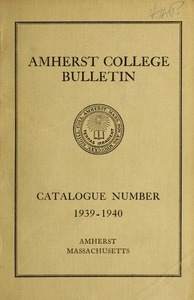 Amherst College Catalog 1939/1940