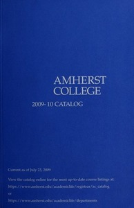 Amherst College Catalog 2009/2010