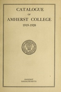 Amherst College Catalog 1919/1920