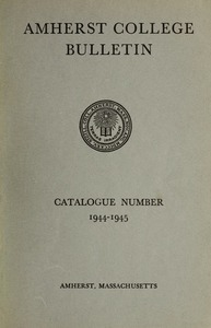 Amherst College Catalog 1944/1945