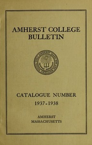 Amherst College Catalog 1937/1938
