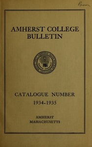 Amherst College Catalog 1934/1935